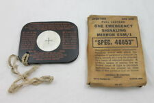WWII Era U.S. Emergency Signal Mirror ESM/1 General Electric Rare Pat. Applied