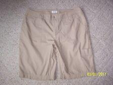 Women's PLUS St. Johns Bay  shorts Size 16 W Khaki 100% cotton inseam 10 1/2