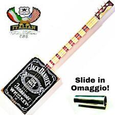 Cigar Box Guitar J- D 4 corde pick-up precision by Robert Matteacci