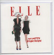 CARTE NEUVE-ELLE-16x16 cm-MOTIF Deux femmes ma petite robe noire
