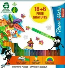 Colouring Pencils Papermate 24 Pack Of Assorted Colours Free P&P