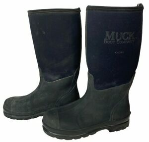 Muck Chore Classic Rubber Work Boots Farm Black Men's 10/10.5  Women's 11/11.5