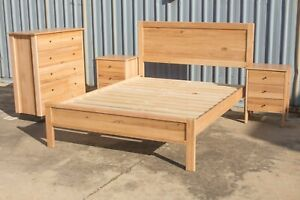 Mansfield 4 Piece Bedroom Suite - Solid Messmate Timber - Australian Made