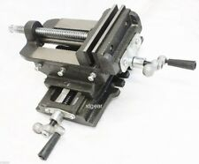"4"" Cross Drill Press Vise Slide Metal Milling 2 Way X-Y Clamp Machine Heavy Duty"