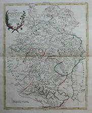 RUSSIA, MOSCOW, VORONEZH, original antique map, Antonio Zatta, 1782
