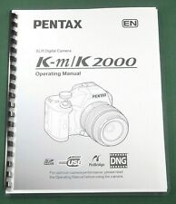 Pentax K-m / K2000 Operating Manual: 280 Pages & Protective Covers!