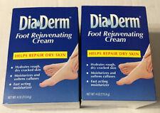 X2 DiaDerm Foot Rejuvenating Cream 4oz Each Best By 11/2020