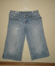 Citizens of Humanity by Jerome Dahan Distressed Cropped Capri Light Wash Sz 26
