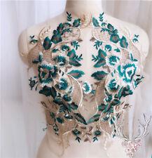 1 Pair Lace Applique Embroidery Trim Sewing Motif  DIY Wedding Bridal Crafts