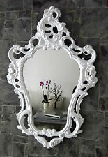 Exclusive Wall Mirror Antique Baroque Repro White 50X76 Decoration New