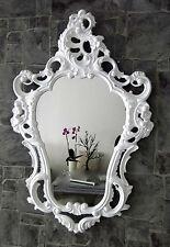 Exclusivo Espejo de pared antiguo Barroco Repro Blanco 50x76 Decoración NUEVO