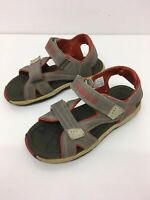 BOYS CHILDS TIMBERLAND BROWN LEATHER HOOK & LOOP SANDALS SHOES UK 12.5 C EU 31