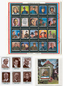 Star T08 Charles de Gaulle Famous People 6v+s/s+Sheet Arab States