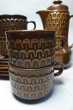 SET WEDGWOOD PENNINE POTTERY COFFEE / TEA POT 6 CUPS & SAUCERS STONEWARE CERAMIC