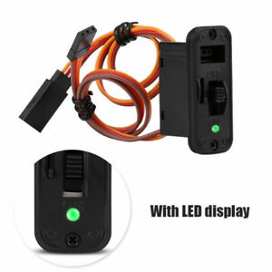 RC Heavy Duty On Off Receiver Switch with LED + Extra Charge Port Futaba JR - UK