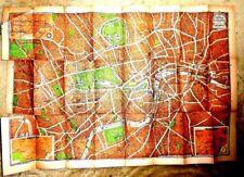 VINTAGE PICTORIAL MAP 3D PLAN OF LONDON GEOGRAPHIA SUBWAY UNDERGROUND CINEMAS