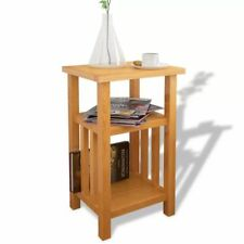 End Table Side Stand Accent Corner Unit with Magazine Shelf Solid Oak Furniture
