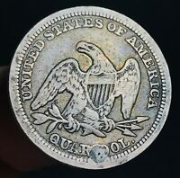 1858 Seated Liberty Quarter 25C High Grade Details Good US Silver Coin CC3347