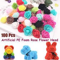 100 PE FOAM ROSE HEAD ARTIFICIAL FLOWER FOR DIY BEAR DOLL PARTY DECOR