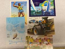 BRAZIL Brasiliana 83 - COMPLETE set 5 Sheets 1983.  MNH PERFECT