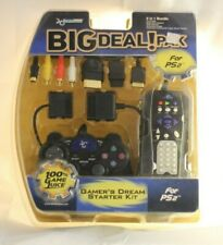 PS2 Dream Gear Big Deal Pak 5 In 1 Bundle Controller Cables Remote Extension