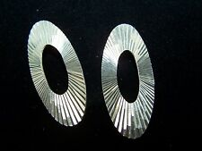 Vintage Sterling Silver Fan Style Earrings 1970's style vintage Mexico