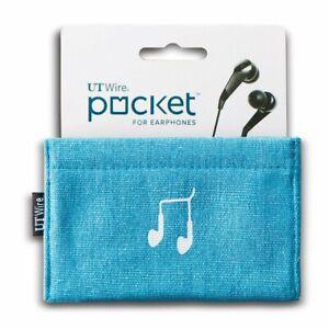 UT Wire UTW-PK01-LU Pocket Earphone Case Pouch, Blue