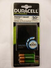 Duracell Fastest Smart Charger w/ 2AA 2AAA Rechargeable Batteries