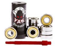 CERAMIC bearings, YAK, set of 8 - for skates, skateboards, longboards, scooters
