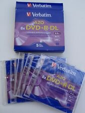 Verbatim AZO 8X DVD R DL Double Layer Recordable Discs 5 Pack 8.5 8x 240 min NEW