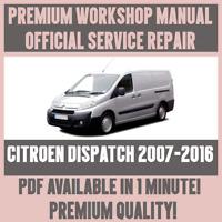 *WORKSHOP MANUAL SERVICE & REPAIR GUIDE for CITROEN DISPATCH 2007-2016