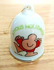 Vintage Ziggy Christmas Bell Ornament Dated 1982 joyous holidays Tom Wilson