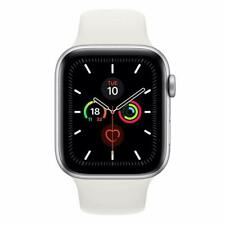 Apple Watch Series 5, 44 mm Silver Aluminium Case with White Sport Band CELL GPS