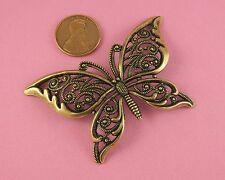 Filigree Butterfly - 1 Pc(s) European Brass Ox Open Wing