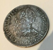 More details for 2 reales coin spanish colonial piece 1775 charles iii silver