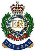 ROYAL ENGINEERS VETERAN STICKER UK - CARS - VANS - LAPTOPS
