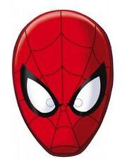 6 Maschere Spiderman-Ufficiali Marvel-Festa Giocattolo Bambini Regalo Bottino di cartone
