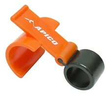 APICO RACING FRONT BRAKE SAFETY LOCK FOR ALL MX ENDURO TRIAL TRAIL BIKES ORANGE