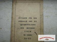 Bedienungsanleitung Ersatzteilliste Bernard Motoren 110-110  610-810 origin.1967