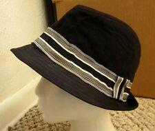 GRANULE throwback fedora hat 1980s gangster cap w/ silver band