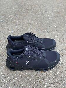 On Cloudflyer Waterproof Men's Size 10 M Black/lunar