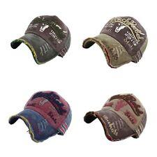 Unisex Vintage Baseball Cap Men Women Adjustable Denim Distressed Trucker Hat