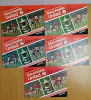 Manchester United 1977-78 Football Programmes Bundle Tokens Removed Div 1 FA Cup