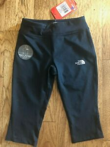 The North Face girls Pulse Performance Capri Pant Black Medium