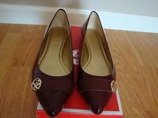 NIB NEW Women Coach Onida Patent Leather Ballet Flat Shoe PORT/PORT 7.5