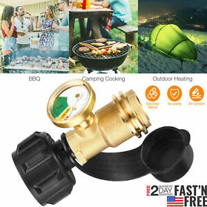 Propane Tank Gauge RV Pressure Brass Adapter Gas Level Meter Grill BBQ Indicator