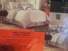 NEW West Point Buckley Chevron Gray Grey Duvet Cover Reversible Twin NIP $80
