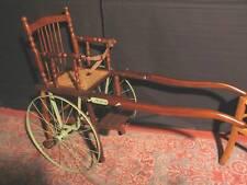 Ancienne  CHAISE A BRAS  ROULETTE D'ENFANT bébé charette carriole