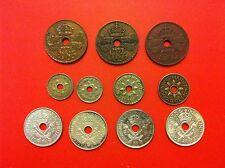 set 11 coins  New Guinea 1 P (3), 3 P (2) , 6 P (2) shilling (4)   (PSY33/11)