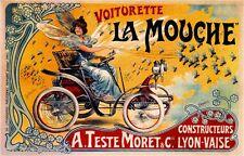 Voiturette La Mouche Vintage French Nouveau France Poster Print  Advertisement